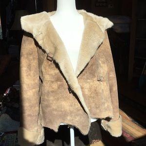 Newport New suede raw edge, faux fur jacket